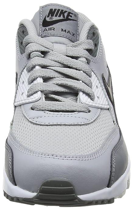 super popular 4c255 e747b Nike Air Max 90 Mesh (Gs), Zapatillas de Running para Niños, Multicolor  (Wolf Grey Black-Cool Grey-White 024), 38 EU  Amazon.es  Zapatos y  complementos
