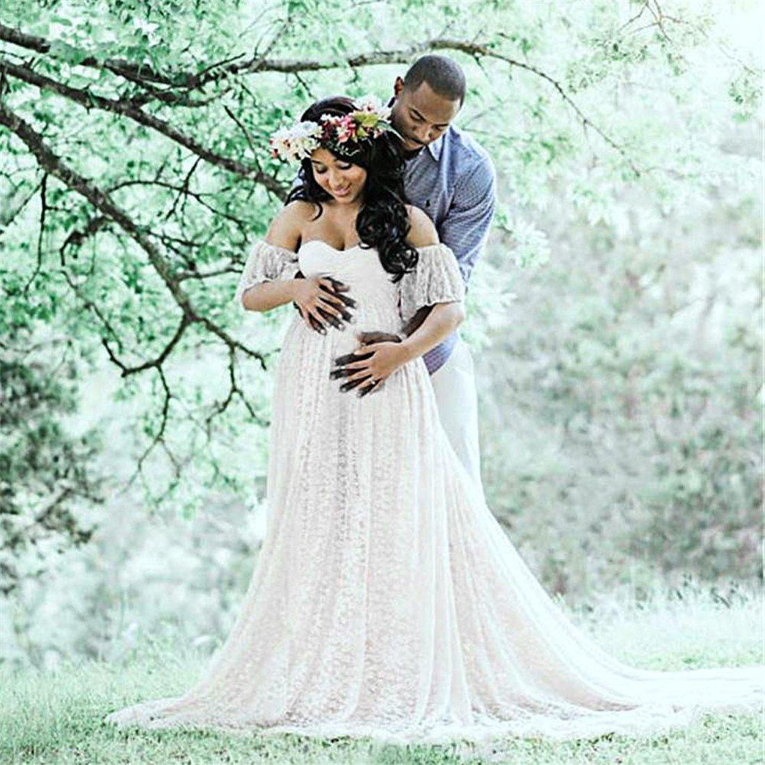Amazon.com: Long Maternity Dress,Hemlock Women Lace Maternity Photo ...