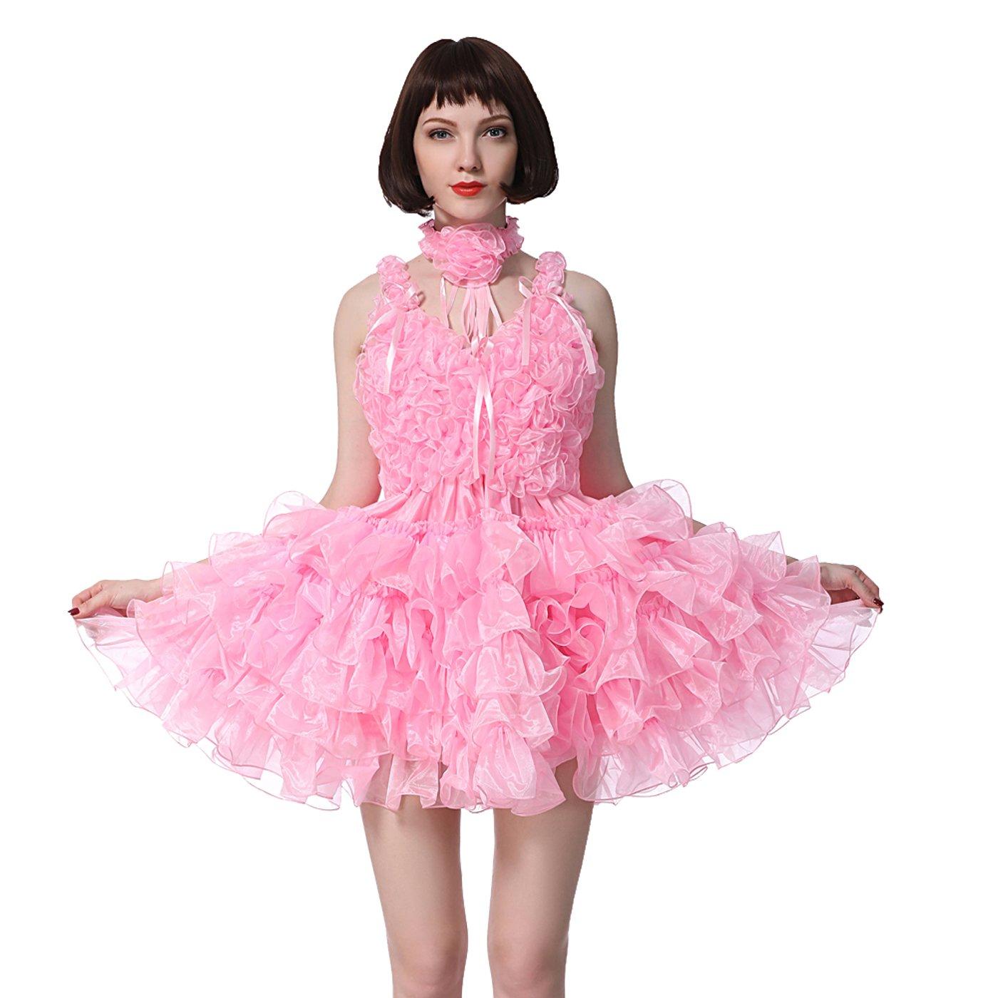 【あす楽対応】 GOceBaby 太い シシー 形になる 少女 女中 ビー 形になる ネックライン オーガンザ 太い クロスドレス 淡紅色 黄銅 ドレス クロスドレス (XXL) B07DMPRJX1 L L, タツゴウチョウ:22e209d2 --- jagorawi.com
