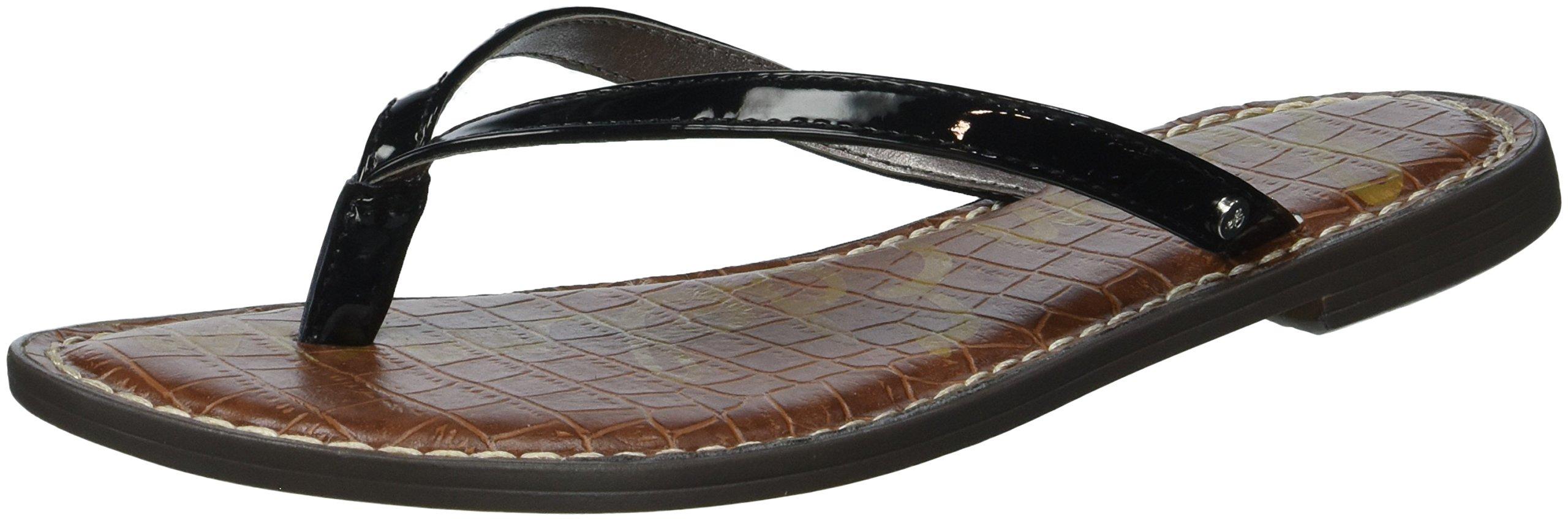 Sam Edelman Women's Gracie Flip-Flop, Black Patent, 8 M US
