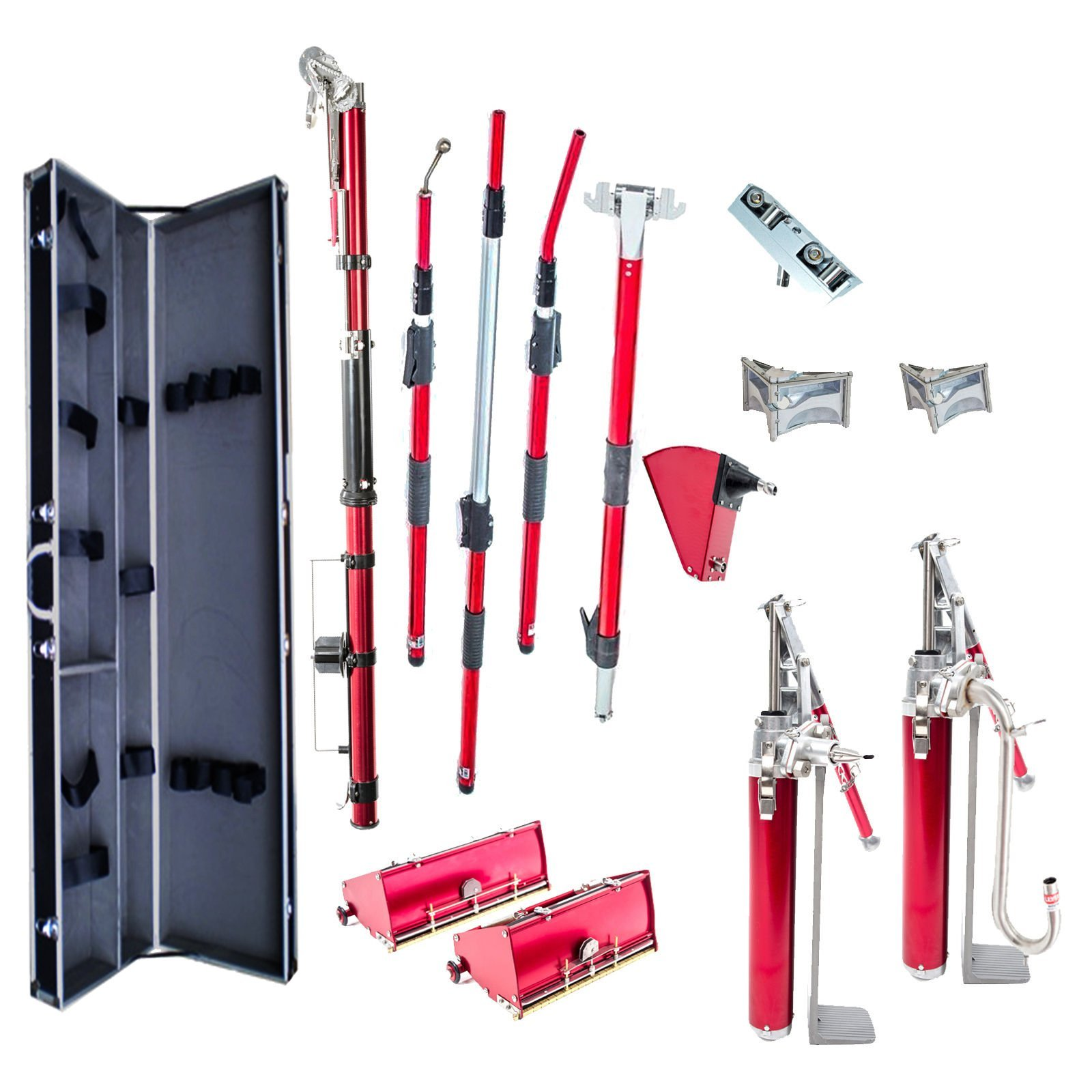 Level5 Pro Complete Extendable Full Set of Automatic Drywall Tools w/ FREE Tool Case by Level5 Tools