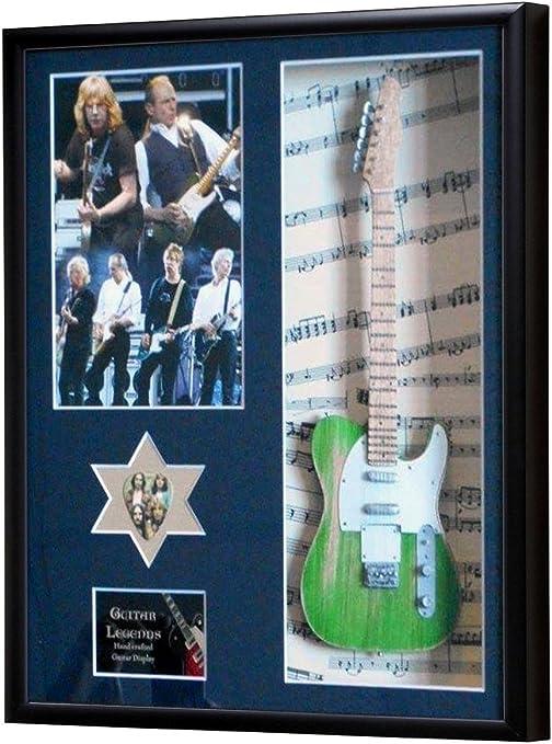 Status Quo Mini Miniatura guitarra enmarcado pantalla: Amazon.es ...