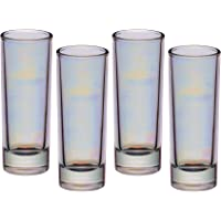 BarCraft Vasos de Chupito Altos, Multicolor (Iridescent), 3.9