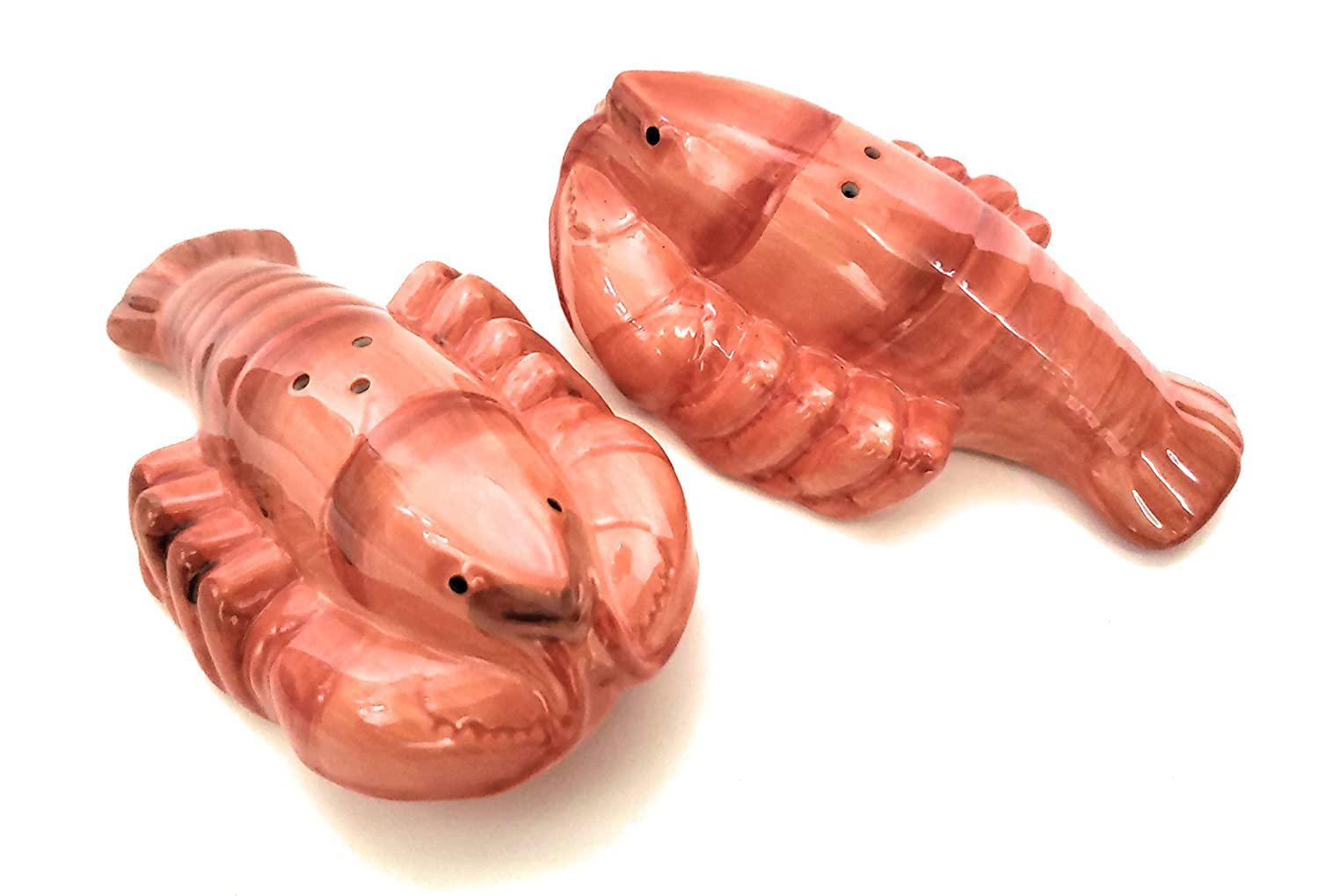 Red Lobster Hand Painted Ceramic Salt and Pepper Set