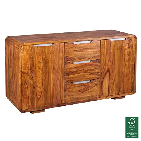 kommode holz natur dunord design sideboard kommode carvalho cm eiche massivholz anrichte holz. Black Bedroom Furniture Sets. Home Design Ideas
