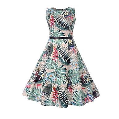 632ac9d2313108 Amphia Damen Elegant Vintage 50er Jahre Kleid Rockabilly Ballkleid  Cocktailkleid mit Schwan Knielang: Amazon.de: Bekleidung