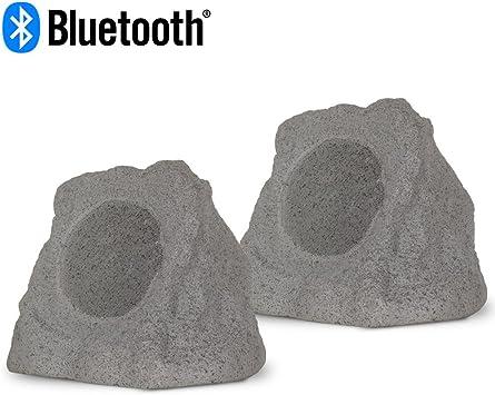"OSD 5.25/"" 120W Bluetooth Weather Resistant Rock Speakers w// Waterproof Power"