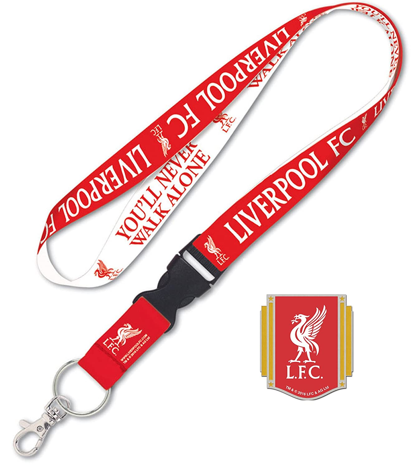 WinCraft Liverpool Football Club Lanyard Gift Set 1 Premium Lanyard and 1 Collectible Lapel Pin