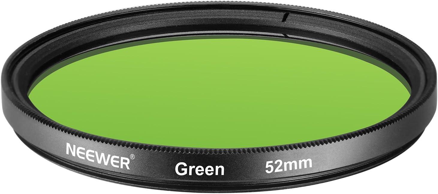 Made of HD Optical Glass and Aluminum Alloy Frame Neewer 52MM Green Lens Filter for Nikon D3300 D3200 D3100 D3000 D5300 D5200 D5100 D5000 D7000 D7100 DSLR Camera