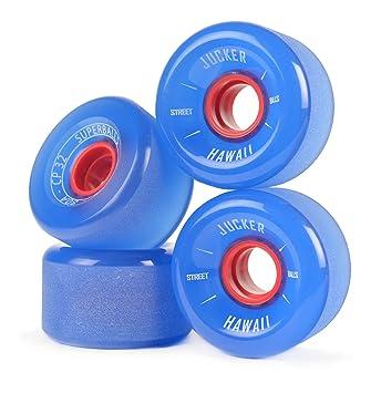 JUCKER HAWAII Ruedas para Longboard Slide Wheels SUPERBALLS 70mm 80A Azul: Amazon.es: Deportes y aire libre