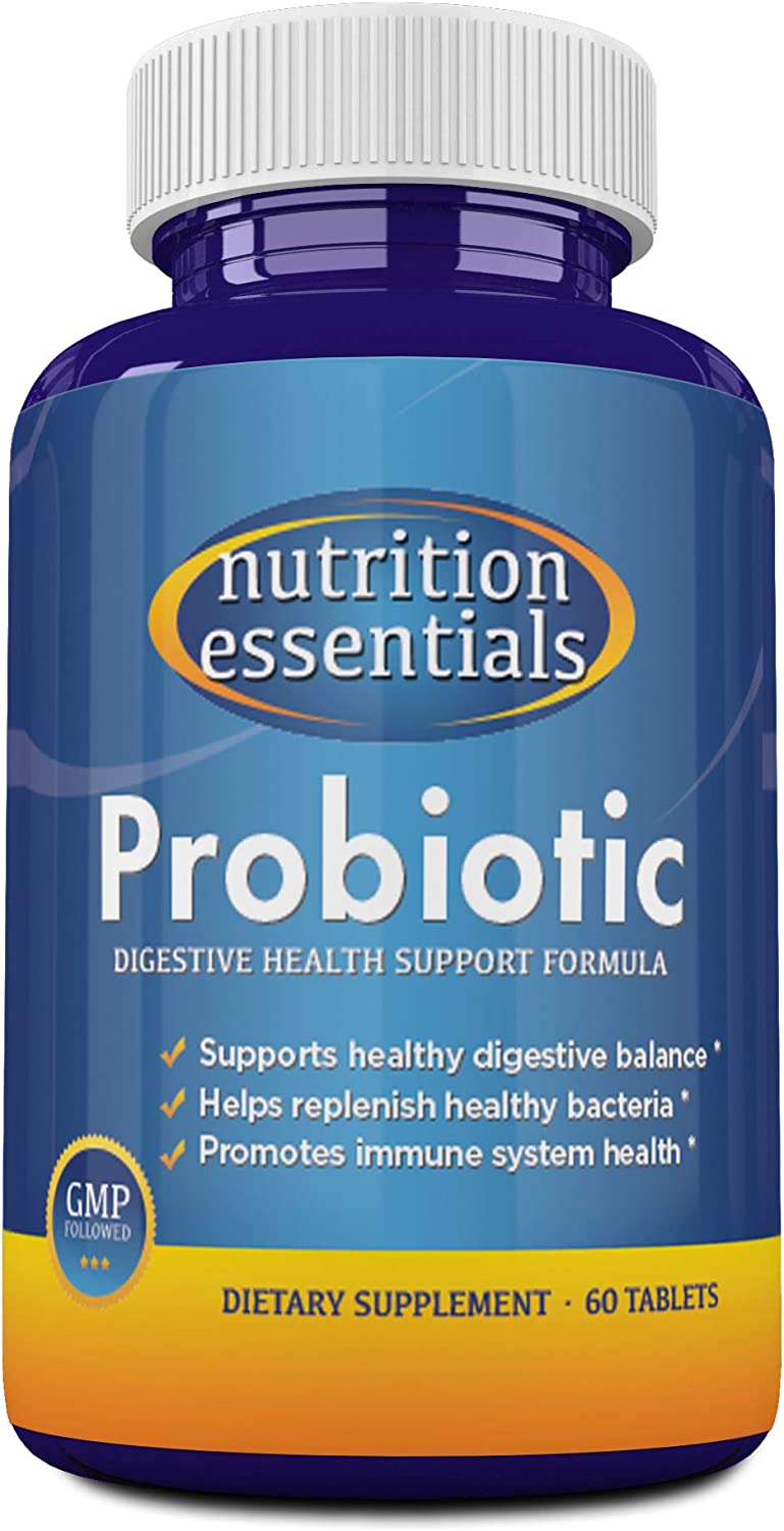 Probiotics 30 Billion CFU - Nutrition Essentials Highest Rated Acidophilus Probiotic for Women and Men - Organic Shelf Stable Probiotic for Digestive Health - 1 Month Supply