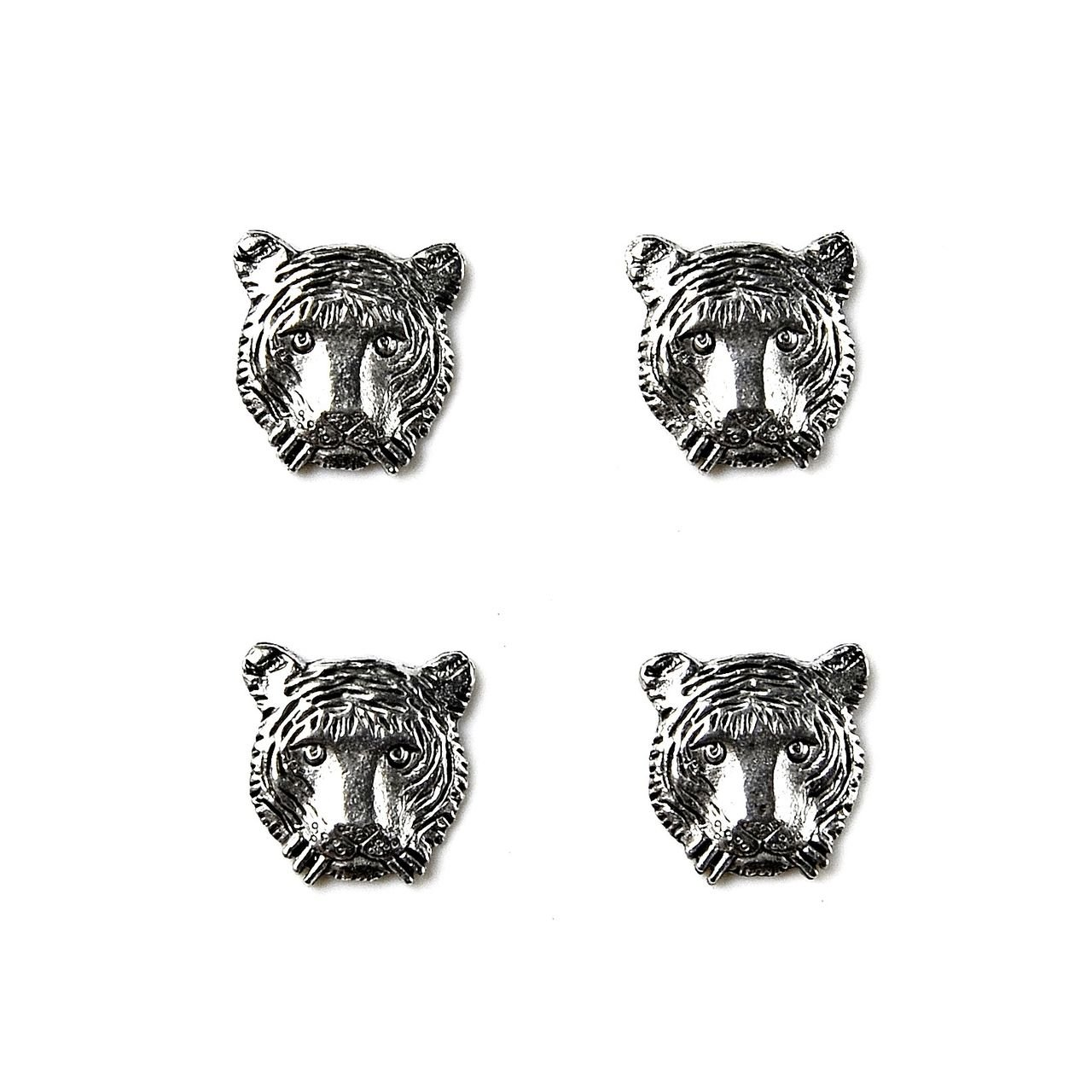 Quality Handcrafts Guaranteed Tiger Tuxedo Studs