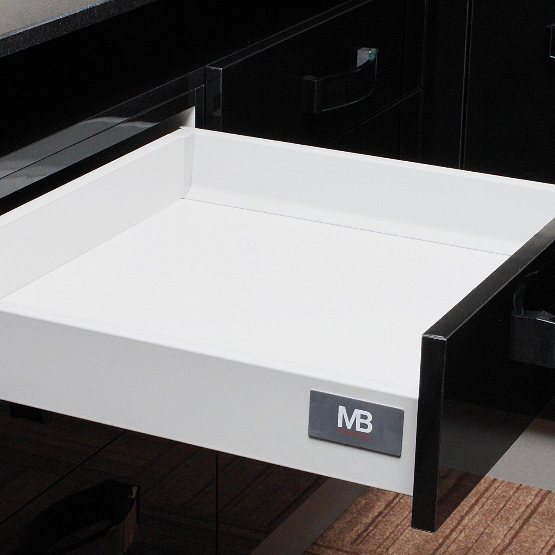 250 mm Schublade Schubkasten 84 mm Tiefe SO-TECH/® Schubkastensystem grau H/öhe