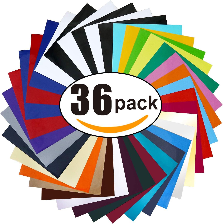 Vinyl for Shirts-Best Soft Pack: Burvagy HTV 36-pack