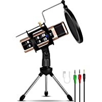 Remall Condenser Microphone with Effects and Voice Changer, Recording Microphone Mic with Stand for Live Streaming…