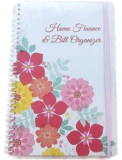 home finance u0026 bill organizer with pockets flowers - Bills Organizer