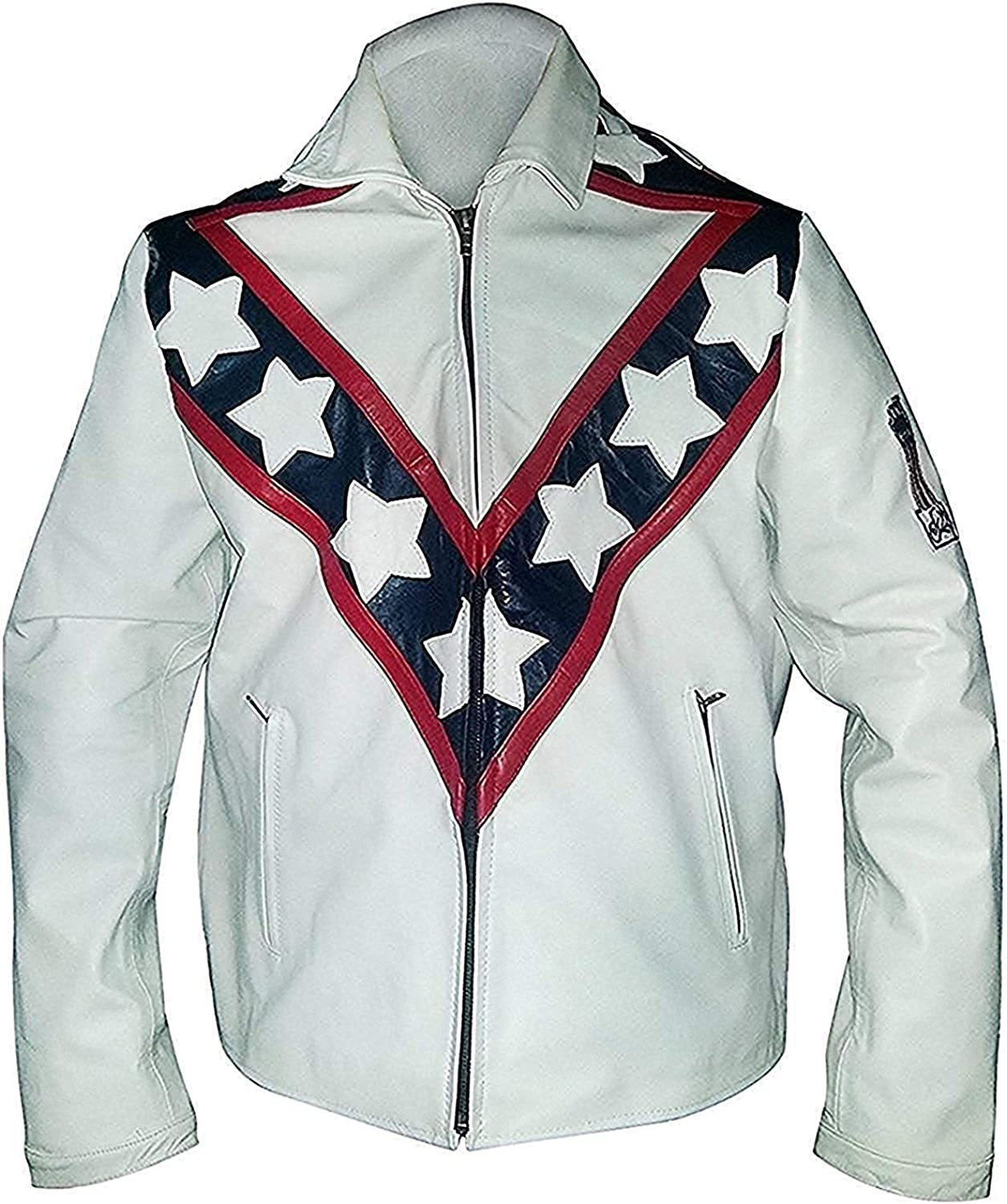 Men,s Rider White Performer Leather Jacket Motorcycle Leather Jacket