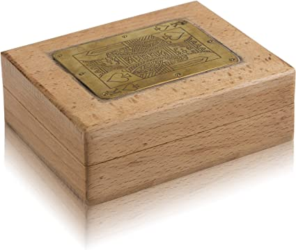 Handcrafted Classic Wooden Playing Card Holder Deck Box Storage Case Organizer