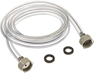 Bev Rite CPCCM102SS Beer Line with Connectors on Both Ends, 5-Feet-304 Grade Stainless Steel Contact, Clear