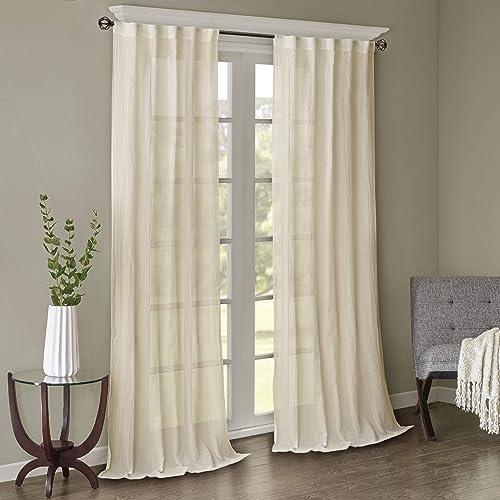 Madison Park Harper Sheer Bedroom - a good cheap window curtain panel