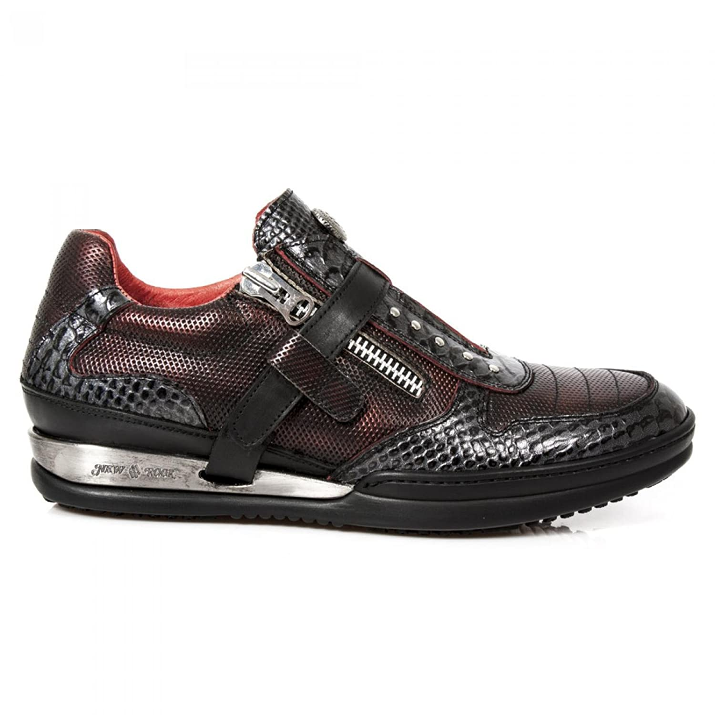 New Rock Boots M.HY031 C2 Urban Hardrock Punk Herren Sicherheits Sportschuhe Schwarz