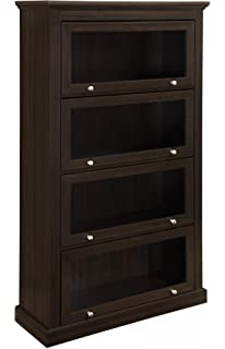 Ameriwood Home Alton Alley 4 Shelf Barrister Bookcase Espresso