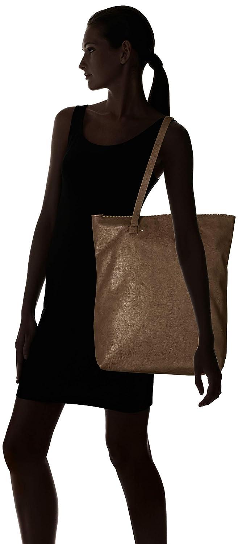 Esprit accessoarer dam Florence Shoppr axelväska, 10 x 42 x 32 cm Grå (grå)
