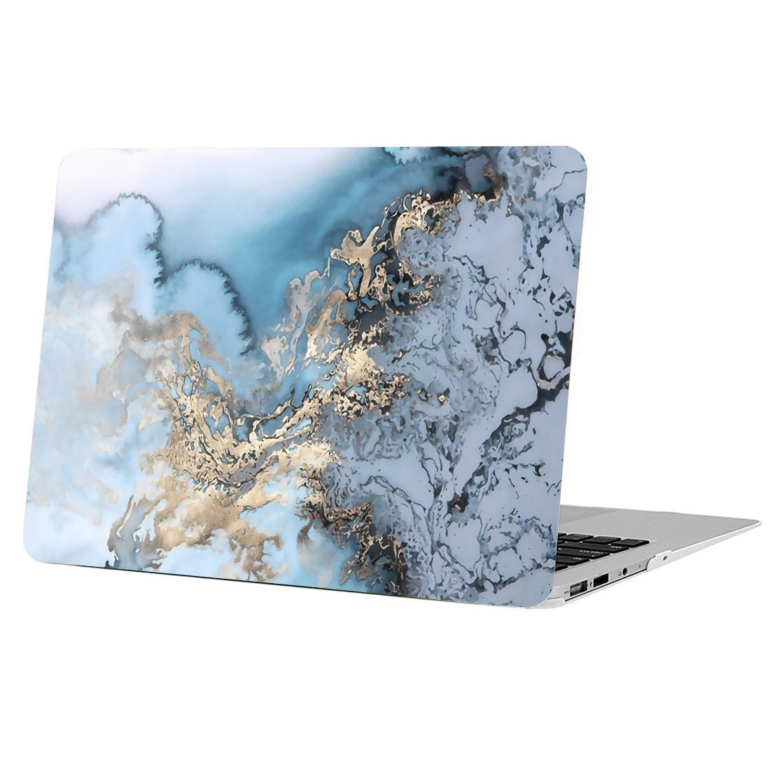 MacBook Pro 13'' 2016/2017/2018 Release, Funut Rubber Coated Glossy Plastic Hard Case Shell Fashion Style for MacBook Pro 13'' 2016/2017/2018 Release (A1706/A1708/A1989) - Watercolour of Marble