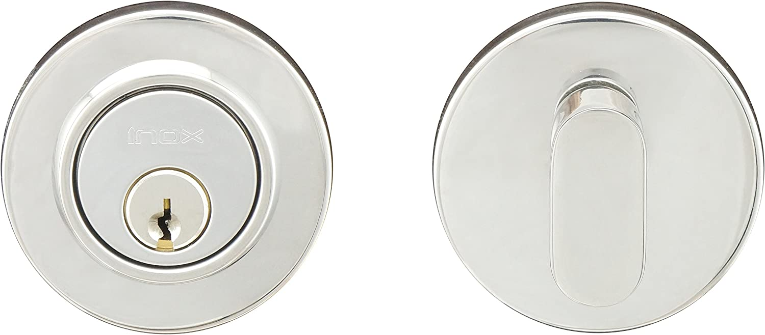 INOX CD110B7-32D CD Round Dead Bolt 2-1//2 Satin Stainless Steel