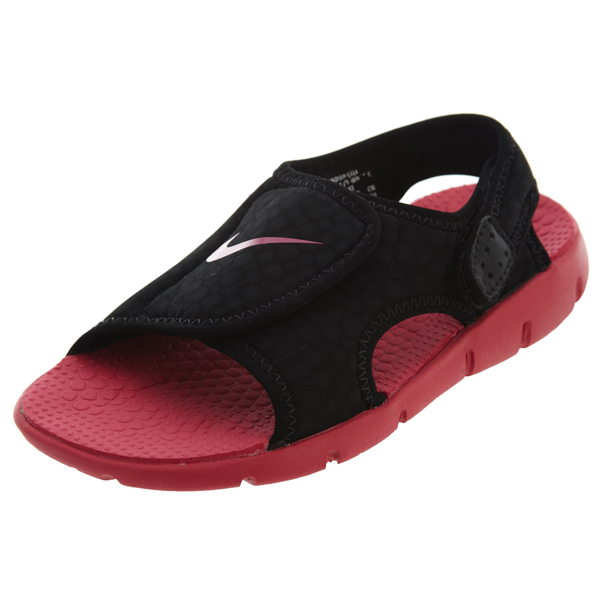 NIKE Sunray Adjust 4 (GS/PS) Girls Sandals (13C, Black/Rush Pink)