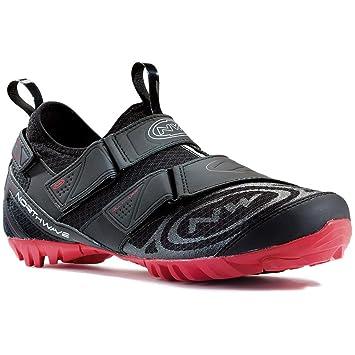 Zapatos Northwave MULTI APP bicicleta de montaña, negro-rojo, schuhgröße:gr. 47: Amazon.es: Deportes y aire libre