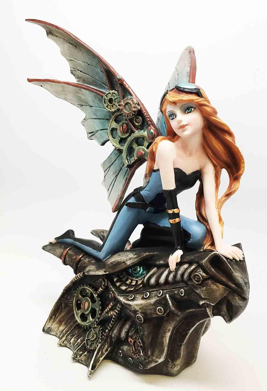 SSteampunk Fairy Dragon Rider Storm Racer Figurine
