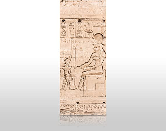 wandmotiv24 Cubierta Trasera de Ducha Pared del Templo de Hathor ...