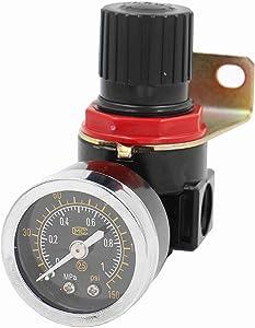 "Baomain Pneumatic Air Source Treatment Pressure Regulator AR-2000 PT 1/4"" 0-1 Mpa (0-150 psi)"