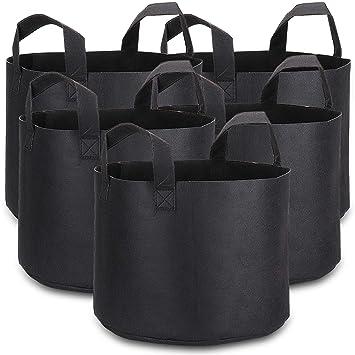 Schramm® 3er Pack 20 Liter Pflanzsäcke aus Vliesstoff Pflanzsack 3 Stück Garten