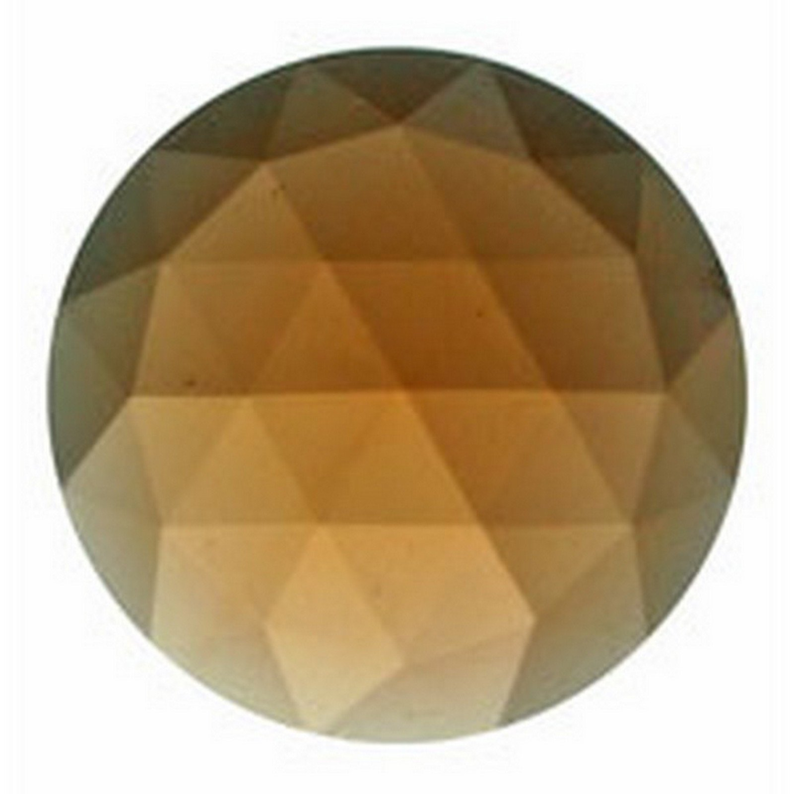 Stained Glass Jewels - 25mm Round Faceted - Peach (Pack of 4) By Stallings Stained Glass by Stallings Stained Glass