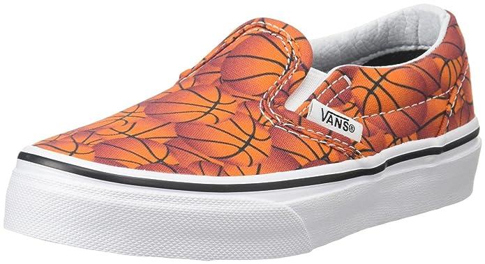 Vans Classic Slip Schuhe Unisex Jungen Mädchen Kinder Orange Basketbälle