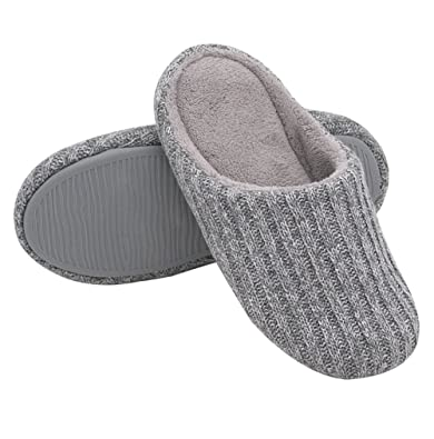 8d130e381adf HomeIdeas Women s Cotton Knitted Anti-Slip House Slippers (Small   5-6 B