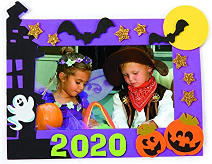 Halloween 2020 Photo Frame With Bow Amazon.com: 4E's Novelty Halloween Crafts for Kids   Picture Frame