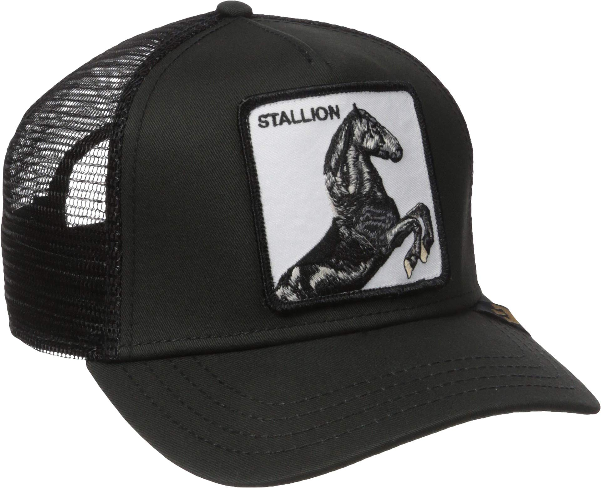 Goorin Bros. Men's Animal Farm Snap Back Trucker Hat, Black Horse, One Size