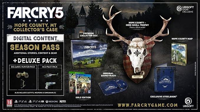 Far Cry 5 Hope County, MT Collectors Case - Playstation 4: Amazon.es: Videojuegos