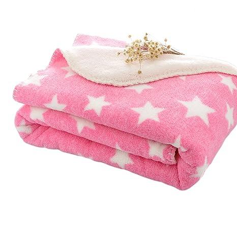87f85cc82 LIMISKY Mantitas para bebés Mantas pequeñas envolventes de bebé niños  Mantitas infantiles estrellas suave espeso otoño