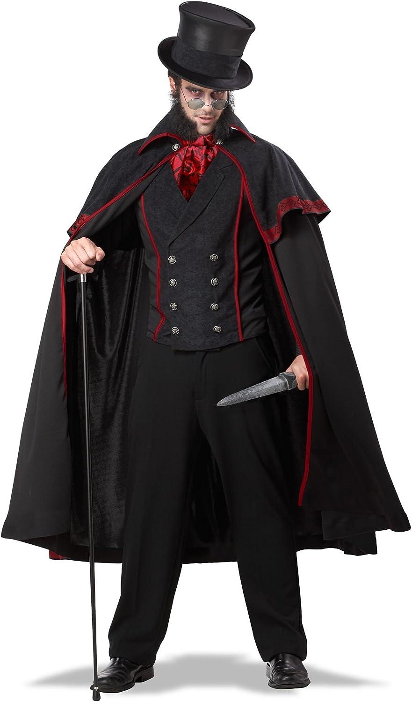 ADULT DELUXE VAMPIRE COSTUME GOTHIC DRACULA MENS HALLOWEEN FANCY DRESS LOT UK