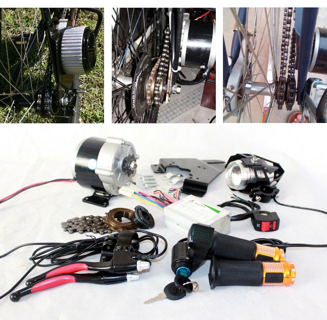 350ワット電動自転車完全な部品電動コンポーネントledレンズヘッドランプスロットルハンドルキースイッチバッテリーインジケータブレーキレバー [並行輸入品] B077XDN5N9 36V350W