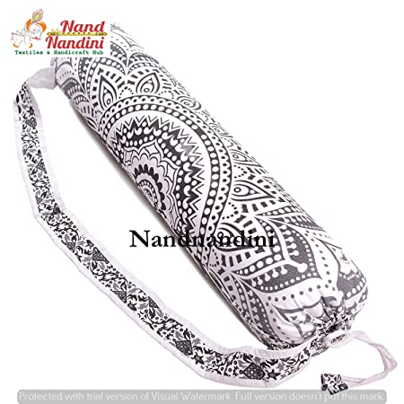 Indian Hippie Boho Mandala Cotton Tapestry Yoga Mat Bag ...