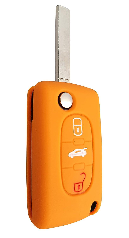 CK CITROEN auto portachiavi Key Cover Case Custodia Silicone per C1/C2/C3/C4/Grand Picasso