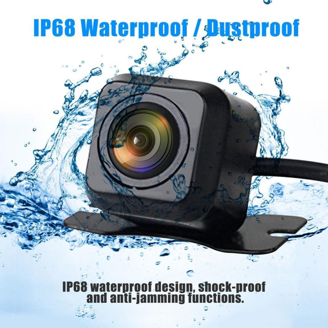 Quaanti New Arrival 170 Degree CMOS Waterproof Night Vision Car Rear View Reverse Backup Parking Camera HD (Black) by Quaanti (Image #2)