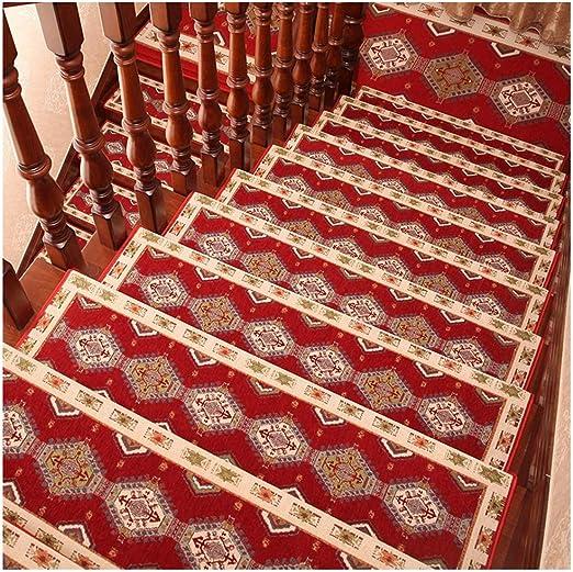 ZENGAI Alfombra de la Escalera Autoadhesivo Agua Absorbente, Fácil de cuidar Protege Las escaleras, Durable, Los 75cmx24cm (Color : Red Wine, Size : 80cmx27cm-1pc): Amazon.es: Hogar