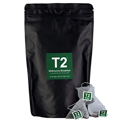 Bolsas de té T2 MELBOURNE BREAKFAST, color negro: Amazon.com ...