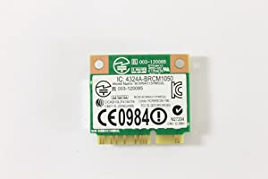 Dell Mini PCI Express Half Height 86RR6 WLAN WiFi 802.11n Wireless Card Latitude E6320